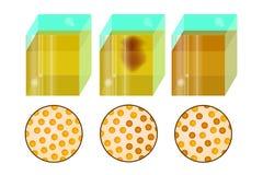 difusão moléculas ou átomos ilustração royalty free