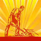 Dig It!. Background illustration with a vintage dig it theme Royalty Free Stock Images