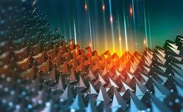 Dig Data Fluxos de informação no Cyberspace ilustração do vetor