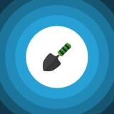 Dig Flat Icon isolato L'elemento di vettore della cazzuola può essere usato per la spatola, la cazzuola, concetto di progetto del Immagine Stock