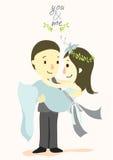 Dig och mig bröllopkort 02 Vektor Illustrationer