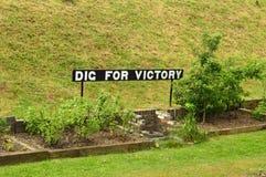 Dig For Victory Garden arkivbild