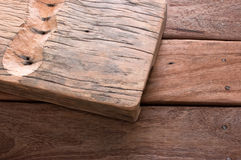 Dig the wood to be within the wooden desk. Prepare further privatization Royalty Free Stock Photography