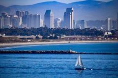 Diga all'entrata al San Diego Harbor Immagine Stock Libera da Diritti