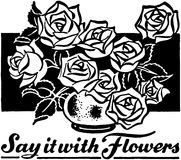 Diga-a com flores Imagens de Stock Royalty Free