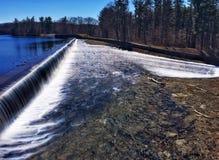 Diga del bacino idrico Fotografia Stock