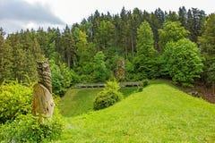 Diga del bacino idrico della valle di Wental, Svevo Giura Fotografia Stock