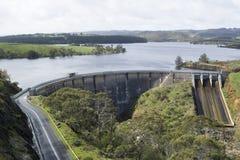 Diga del bacino idrico di Myponga, Myponga, Australia Meridionale fotografia stock libera da diritti