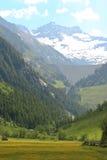 Diga del bacino idrico di Schlegeis, Austria Fotografia Stock