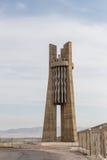 Diga del bacino idrico di Stella Kirov Costruito 1965 - 1975 Tala della valle, K fotografia stock
