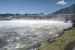 Diga del Bonneville che libera lo stato dell'Oregon dell'acqua Immagine Stock Libera da Diritti
