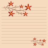 Diga del fiore su carta Immagine Stock