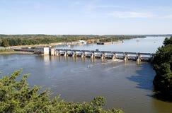 Diga del fiume dell'Illinois Fotografia Stock