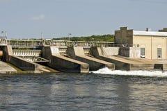 Diga del fiume Mississippi Fotografia Stock