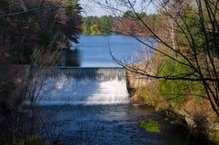 Diga del Loch della valletta nelle cadute del Chippewa Immagini Stock Libere da Diritti