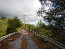 Diga del serbatoio di acqua in EL Chorro Fotografia Stock