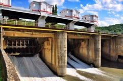Diga della centrale idroelettrica di Maikop HPS Fotografie Stock