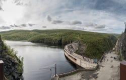 Diga di Alta in Sautso Finnmark Norvegia Fotografie Stock Libere da Diritti