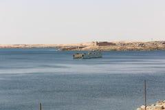 Diga di Assuan in alta diga - Egitto Immagine Stock
