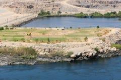 Diga di Assuan in alta diga - Egitto Fotografia Stock