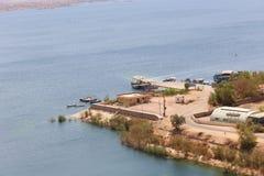 Diga di Assuan in alta diga - Egitto Fotografie Stock Libere da Diritti