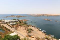 Diga di Assuan in alta diga - Egitto Immagini Stock Libere da Diritti