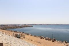 Diga di Assuan in alta diga - Egitto Fotografie Stock