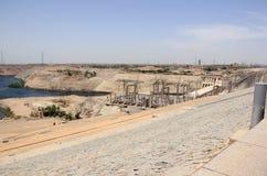 Diga di Assuan L'alta diga Assuan, Egitto Immagini Stock Libere da Diritti