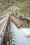Diga di doiversion di Boise River nell'Idaho con alta marea Immagine Stock Libera da Diritti