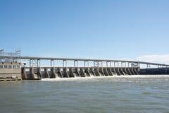 Diga di energia idroelettrica di Pickwick Fotografia Stock