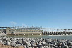 Diga di energia idroelettrica di Pickwick Fotografie Stock