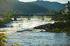 Diga di Great Falls in Norvegia immagine stock