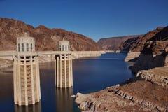Diga di Hoover, l'Arizona ed il Nevada Fotografie Stock Libere da Diritti