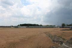Diga di Kallanai una diga antica in Tiruchirappalli, Tamil Nadu, India Immagine Stock Libera da Diritti