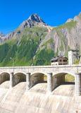 Diga di Morasco, valle di formazza Fotografia Stock