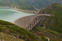 Diga di Moserbooden - centrale elettrica di energia idroelettrica Immagini Stock Libere da Diritti