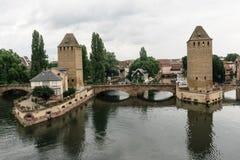 Diga di Strasburgo vauban vicino ad un canale in Francia Fotografia Stock Libera da Diritti