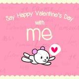 Diga el día de tarjeta del día de San Valentín feliz conmigo 02-01 Imagen de archivo