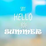 Diga hola al verano Fotografía de archivo