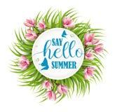 Diga hola el verano stock de ilustración