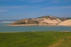 Diga Idriss del lago nel Marocco Fotografie Stock