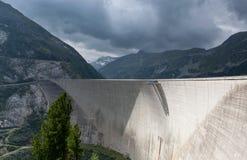 Diga Kölnbrein; L'Austria Immagine Stock