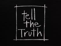 Diga la verdad Imagen de archivo libre de regalías