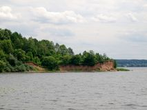 Diga marina artificiale del fiume di Kaunas Nemunas Fotografie Stock