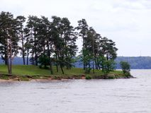 Diga marina artificiale del fiume di Kaunas Nemunas Fotografia Stock Libera da Diritti