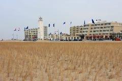 Diga nella costruzione della duna Fotografia Stock Libera da Diritti