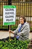 Diga no a la protesta de la OTAN Fotos de archivo libres de regalías