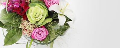 Diga-o com flores Fotografia de Stock