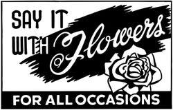 Diga-o com flores 2 Imagens de Stock