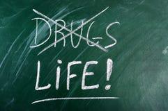 Diga o No. às drogas, vida bem escolhida Foto de Stock Royalty Free